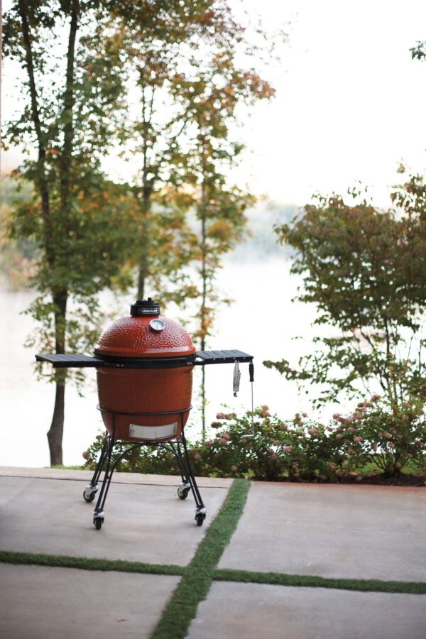 Kamado Joe - Classic 1 - The Kamado Joe that set a new high standard for craftsmanship and innovation, our Kamado Joe Classic 1 features a thick-walled, heat-resistant shell that locks in smoke and moisture at any temperature. Beneath the easy-open dome, a large cooking surface crafted from commercial-grade 304 stainless steel provides ample space for 10–12 fillets or chicken breasts. Other standard features include a flexible Divide & Conquer cooking system, a heavy-duty rolling cast iron cart, a precision ventilation dial and a patented slide-out ash drawer for easy access and cleaning. PRE-ORDER FOR DELIVERY EARLY JULY