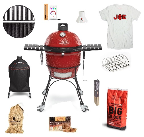 Kamado-Joe-Classic-2-Get-Grilling-bundle-with-T-Shirt-for-TopBBQ