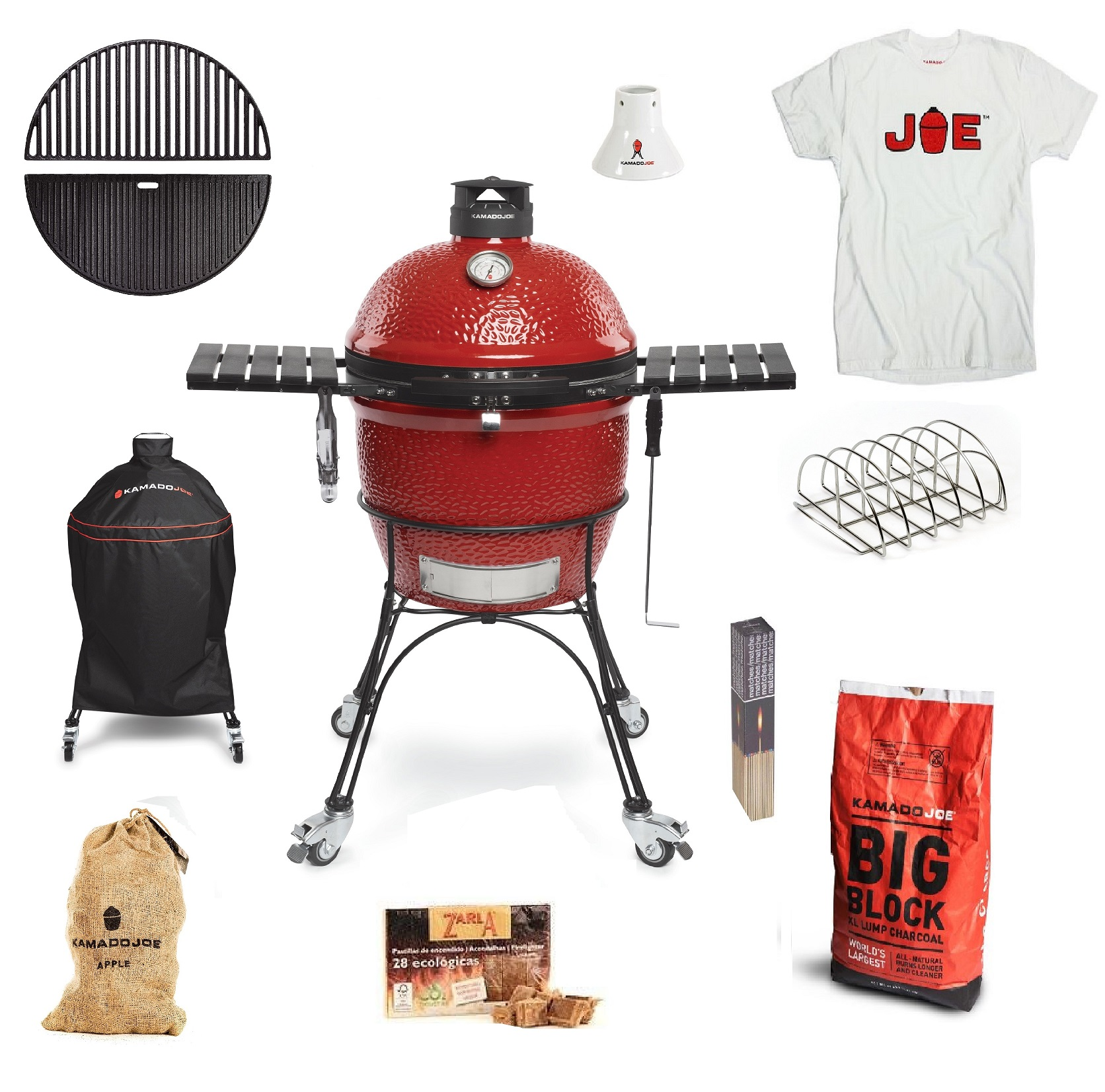 Kamado Joe Classic 2 Get Grilling bundle with T Shirt for TopBBQ