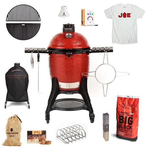 Kamado-Joe-Classic-3-Get-Grilling-bundle-with-T-Shirt-TopBBQ