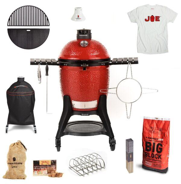 Kamado Joe Classic 3 Get Grilling bundle with T Shirt TopBBQ