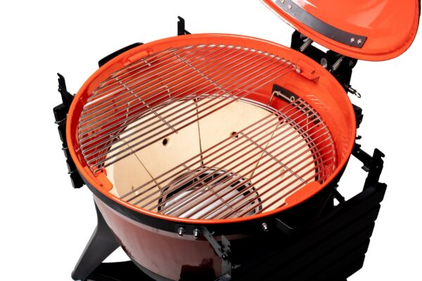 Kamado Joe - Kettle Joe - Kamado Joe continues to innovate with the Kettle Joe. A 22 inch kettle grill with unique ceramic cooking features that improve heat retention, fuel efficiency, and smoking ability.