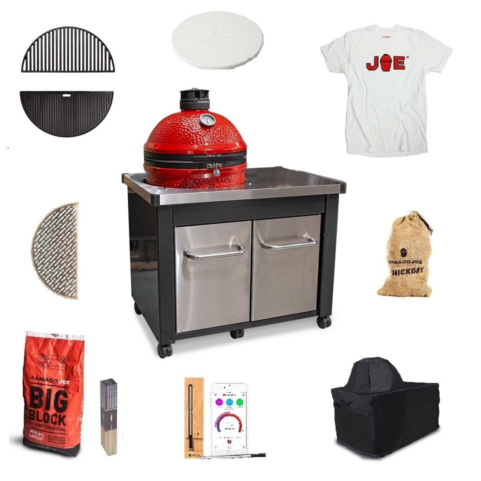 Kamado-Joe-Stainless-Steel-Table-bundle-with free tshirt