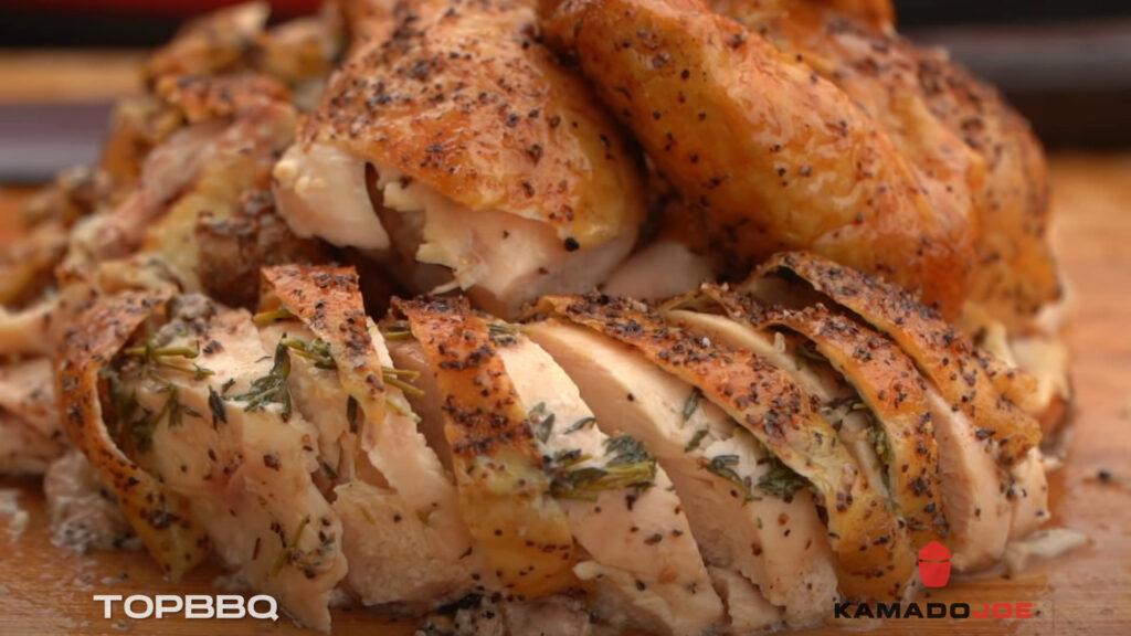Recipe Spatchcock Chicken with a Kamado Joe BBQ
